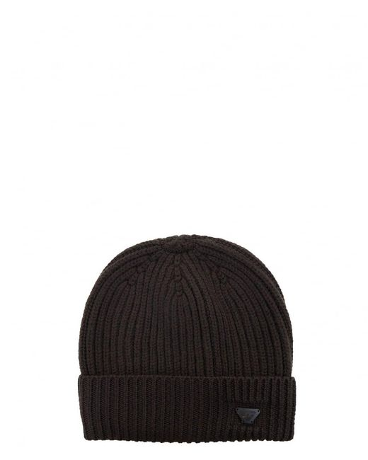 Armani Jeans | Brown Turnback Beanie Hat for Men | Lyst