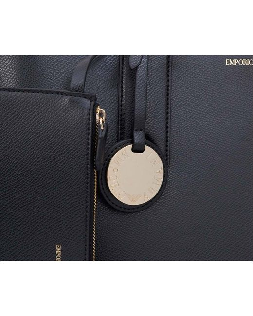 eb61918f3865 ... Emporio Armani - Blue Frida Large Eco Leather Shopper - Lyst ...