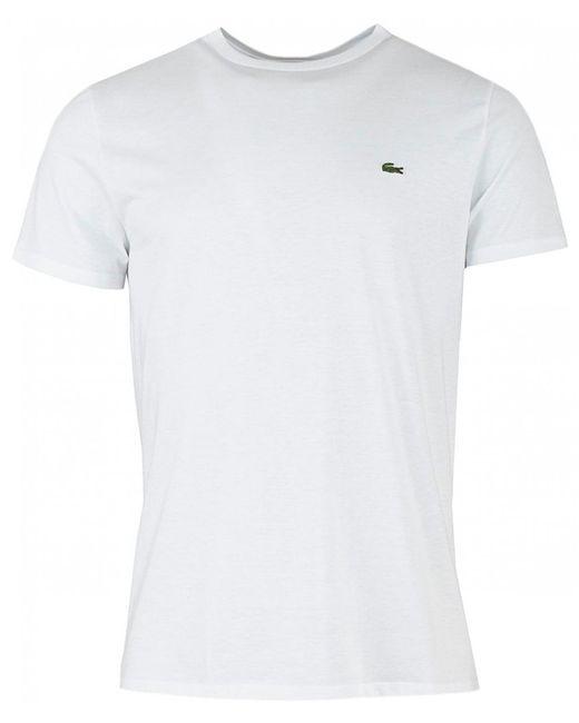 Lacoste - White Men's Classic Pima Tshirt for Men - Lyst