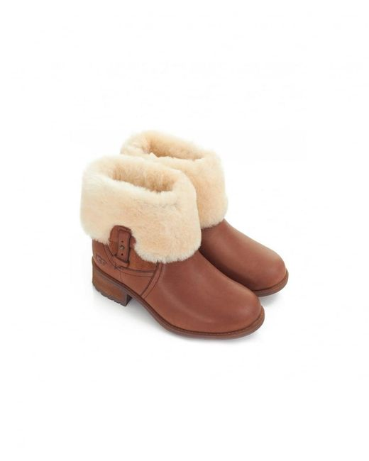 882e8b03e70 Chyler Fold In Brown Over Boots Ugg Leather Lyst ZtPxq5zwt