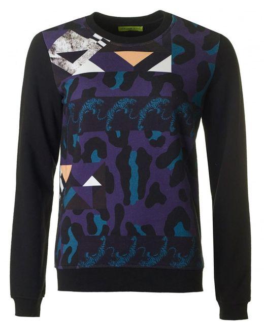 Versace Jeans - Blue Multi Pattern Logo Sweat for Men - Lyst