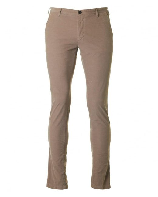BOSS by Hugo Boss - Natural Rice 3-d Slim Fit Cord Trousers - Lyst