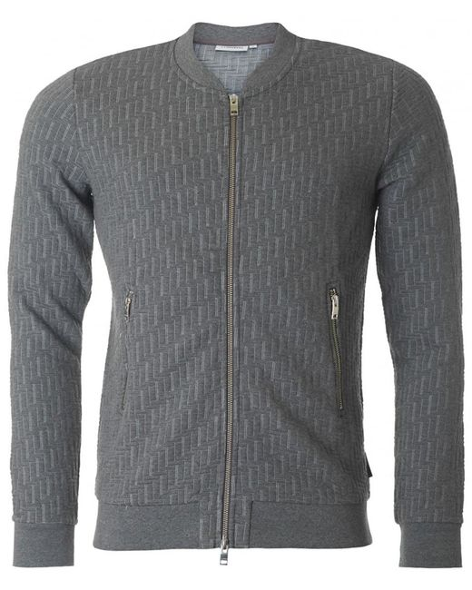 J.Lindeberg - Gray Randell Quilted Bomber Sweat for Men - Lyst