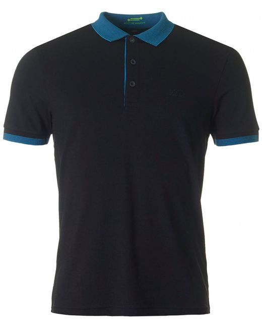 BOSS Athleisure - Black Paule Slim Fit Stretch Polo for Men - Lyst