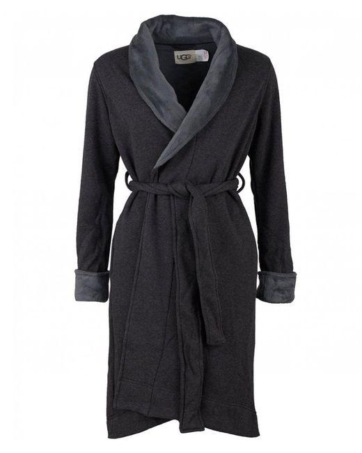 Ugg - Black Duffield Ii Fleece Lined Dressing Gown - Lyst ... 74b345d7f