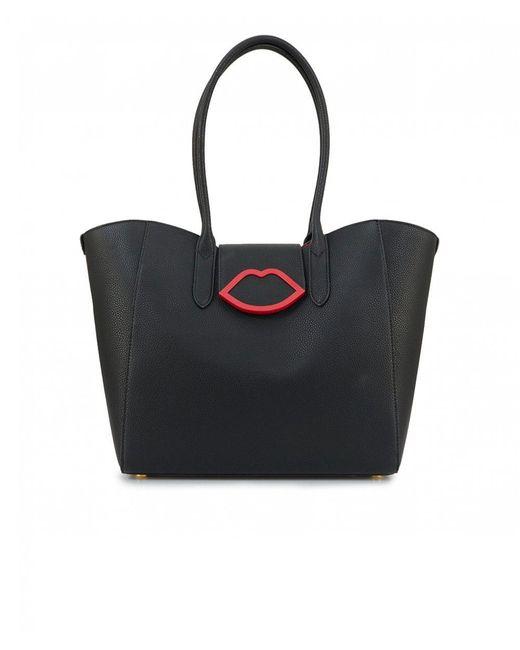 Lulu Guinness - Black Cupids Bow Sofia Tote Bag - Lyst
