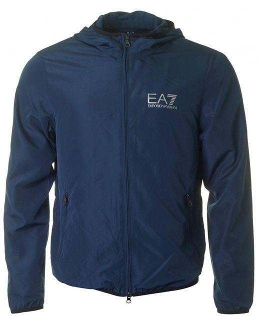 EA7 - Blue Train Core Id Zip Through Windbreaker for Men - Lyst