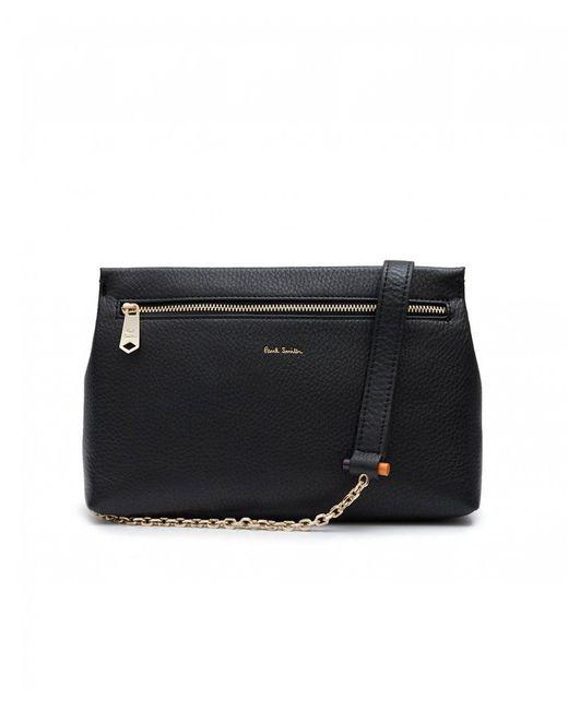 Paul Smith - Black Leather Chain Toggle Crossbody Bag - Lyst