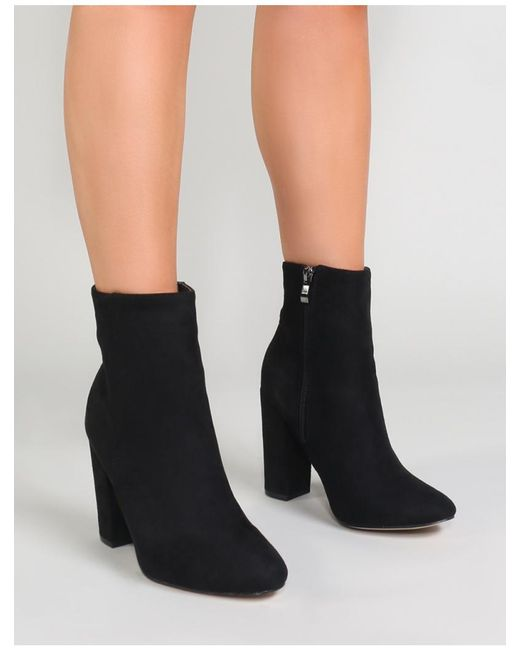 dff3868b64b1 ... Public Desire - Multicolor Presley Ankle Boots In Black Faux Suede -  Lyst ...