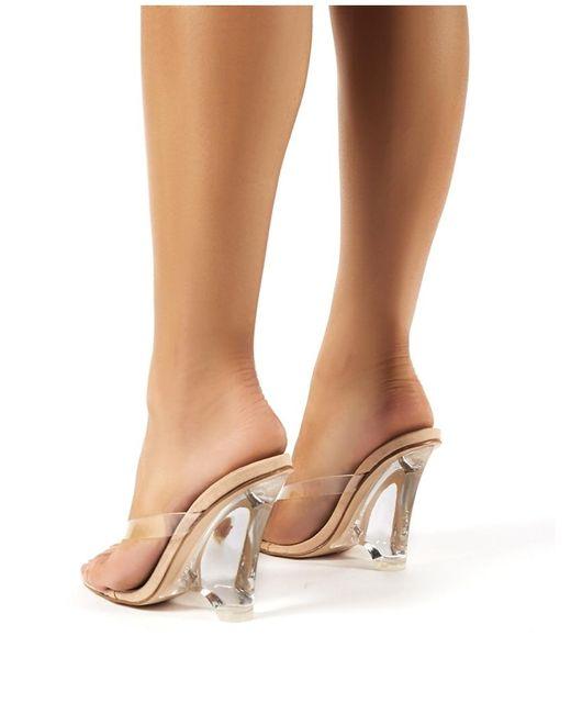 Honey Brown Velvet Open Knot Toe High Heel Platform Wedge Sandal Kiss /& Tell