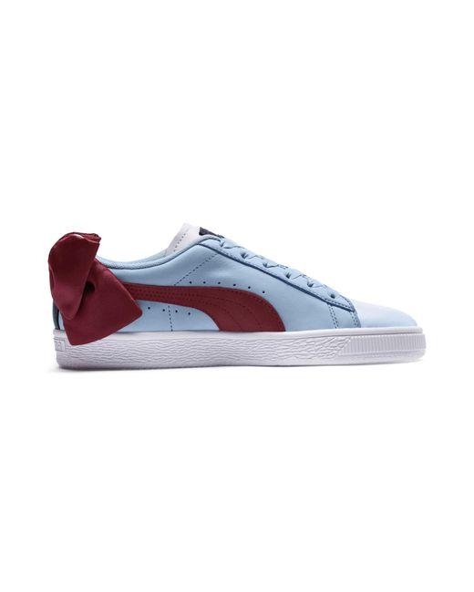 newest ec109 6a4f7 Basket Bow New School Women's Sneakers