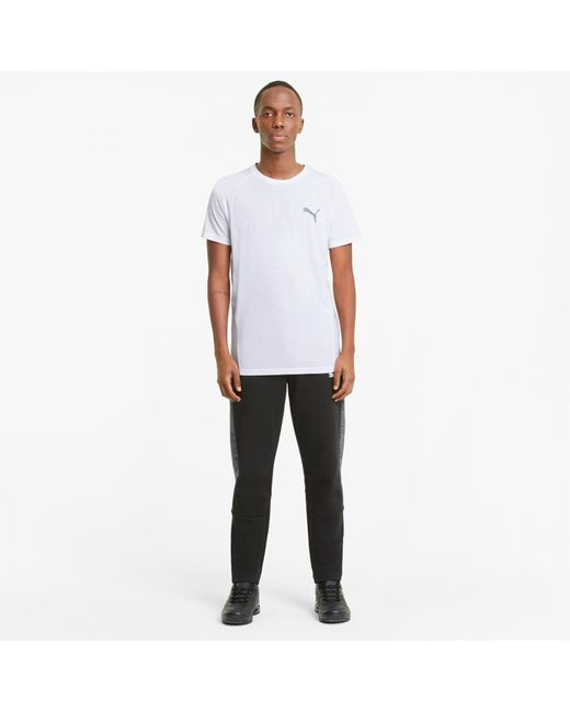 PUMA Evostripe T-shirt Heren in het White voor heren