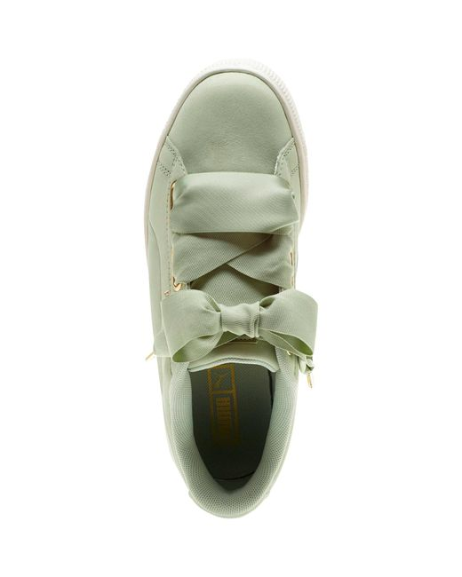 PUMA Satin Basket Heart Soft Sneakers