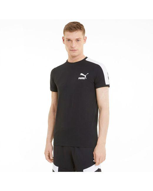 PUMA Iconic T7 T-shirt Heren in het Black voor heren