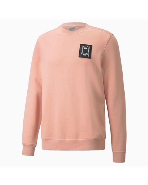 PUMA Pivot Special Sweatshirt mit Rundhalsausschnitt in Pink für Herren