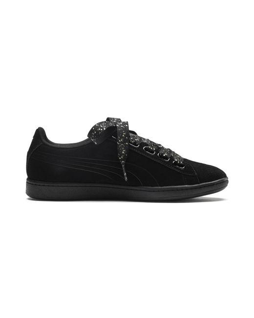 5d6743b25c5 Lyst - PUMA Vikky Ribbon Dots Sneakers in Black - Save 47%