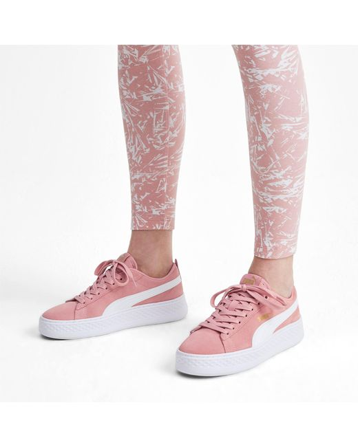 PUMA Suede Smash Platform Sd Low top Sneakers in 10 (Pink