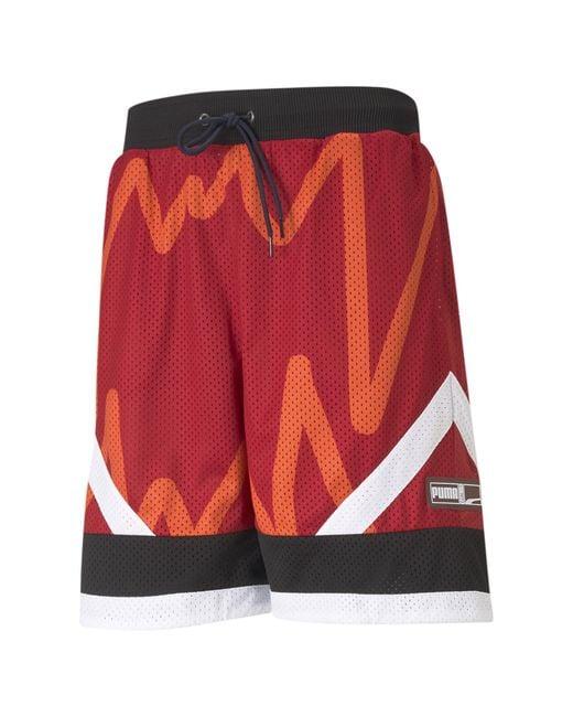PUMA Red Jaws Mesh Basketball Shorts for men