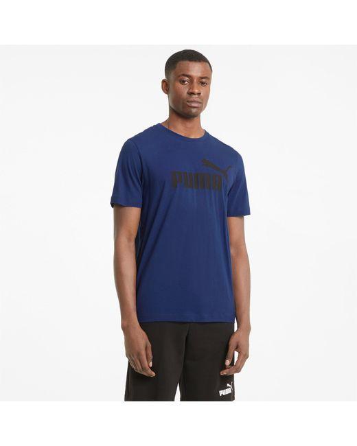 PUMA Essentials Herenshirt Met Logo in het Blue