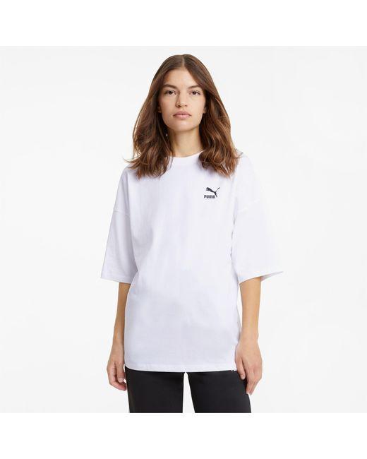 PUMA White Classics Lockeres T-Shirt