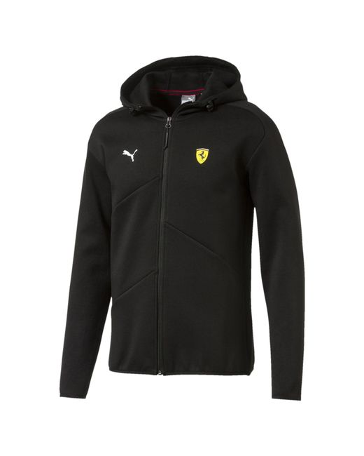 PUMA - Black Ferrari Men's Hooded Sweat Jacket for Men - Lyst