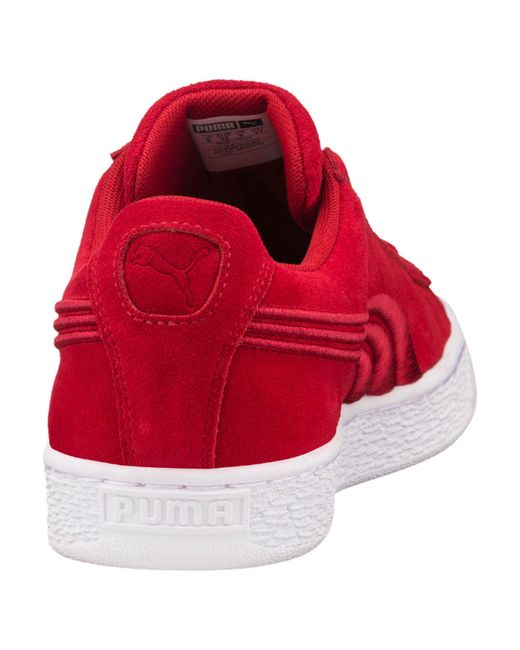 QWGBE Puma Suede Classic Badge Sneakers in Red for Men | Lyst