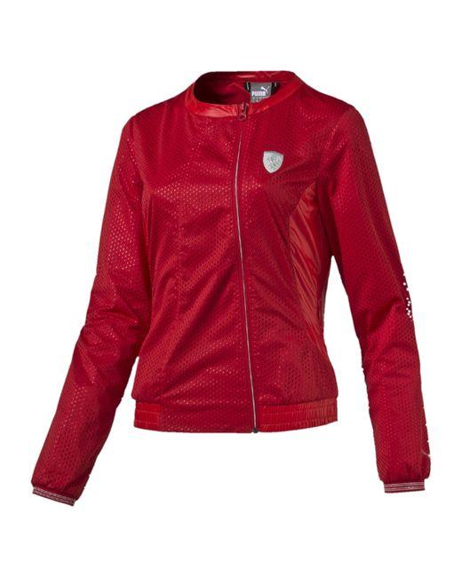 puma ferrari lightweight jacket in red lyst. Black Bedroom Furniture Sets. Home Design Ideas
