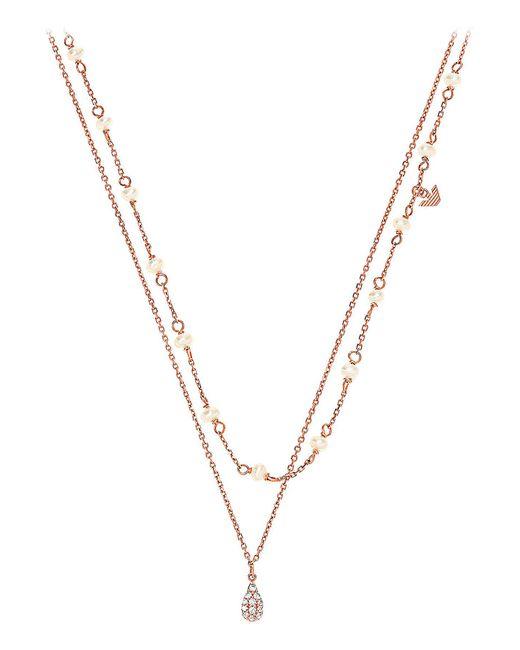 Colliers Emporio Armani en coloris Metallic