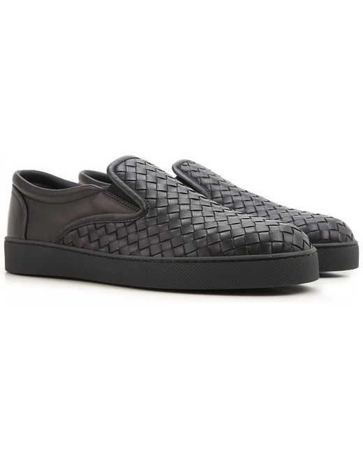 Bottega Veneta - Black Slip On Sneakers For Men On Sale In Outlet for Men - Lyst
