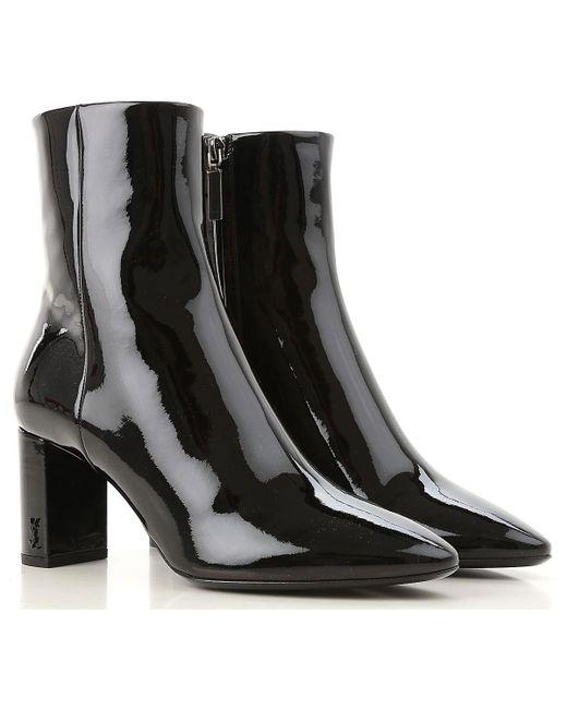 Saint Laurent Black Boots For Women