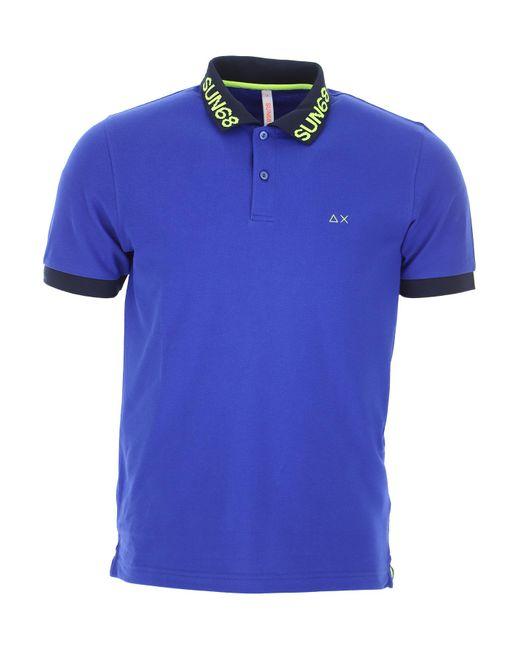 Sun68 Blue Polo Shirt For Men for men