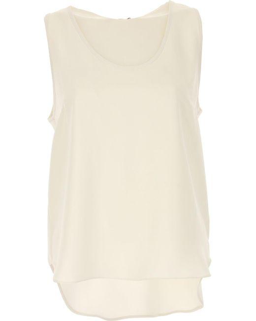 P.A.R.O.S.H. White Top For Women On Sale In Outlet