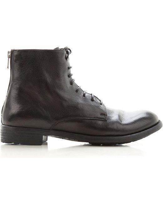 Officine Creative Black Stiefel für Damen