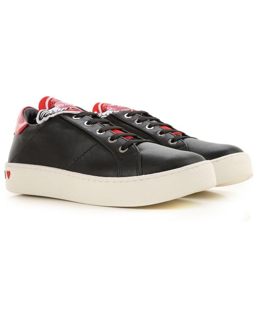 Moschino Black Shoes For Women