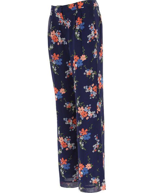 Michael Kors Pantalon Femme Pas cher en Soldes de coloris bleu