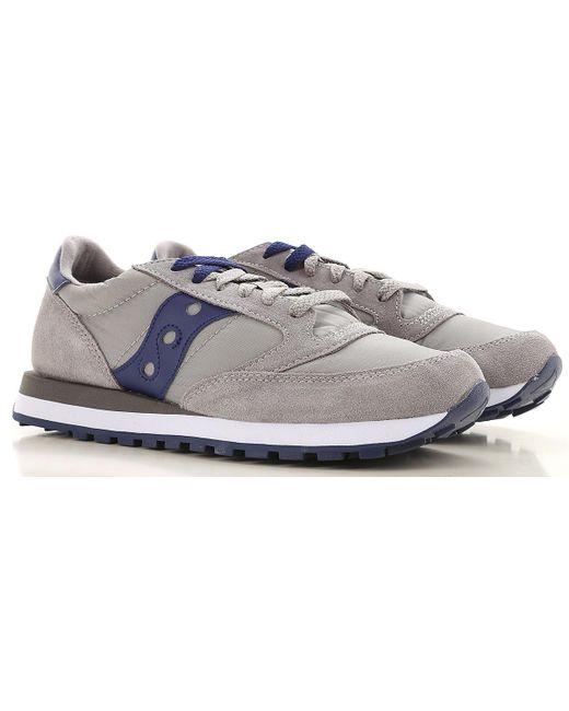 Saucony Zapatos de Hombres Baratos en Rebajas de color gris