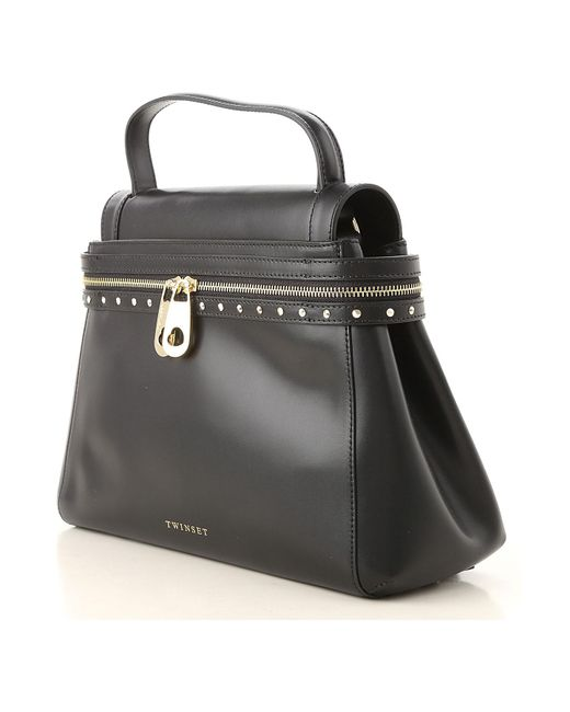 Twin Set Black Handbags Lyst