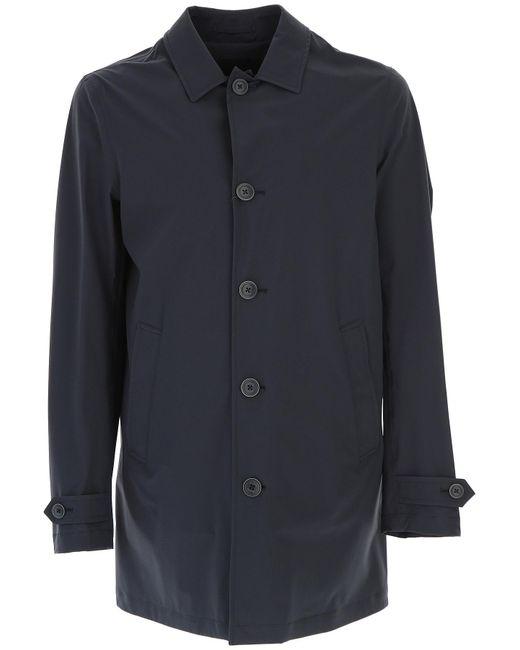 Herno - Blue Men\'s Coat On Sale for Men - Lyst