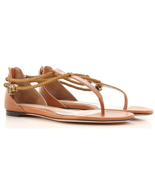 Alexander McQueen - Brown Sandals For Women On Sale In Outlet - Lyst