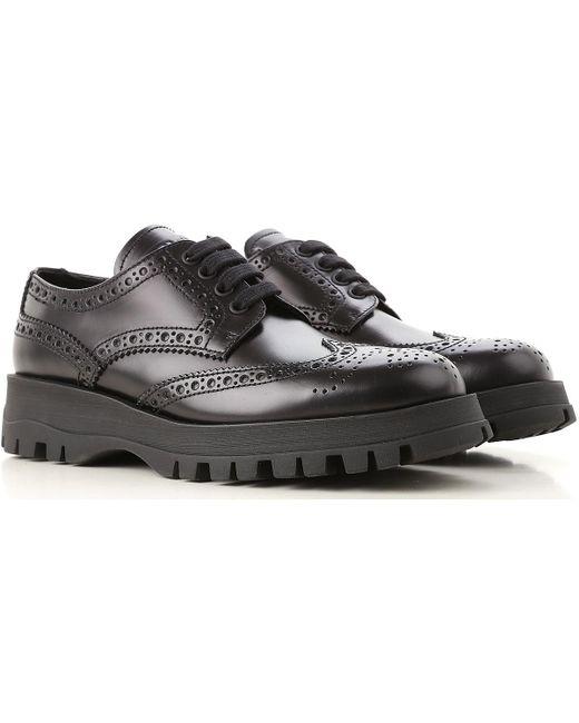 Prada - Black Lace Up Shoes For Men Oxfords - Lyst