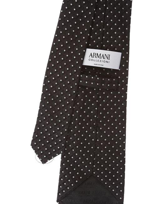Corbatas Baratos en Rebajas Giorgio Armani de hombre de color Black