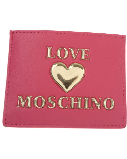 Moschino Pink Card Holder For Women