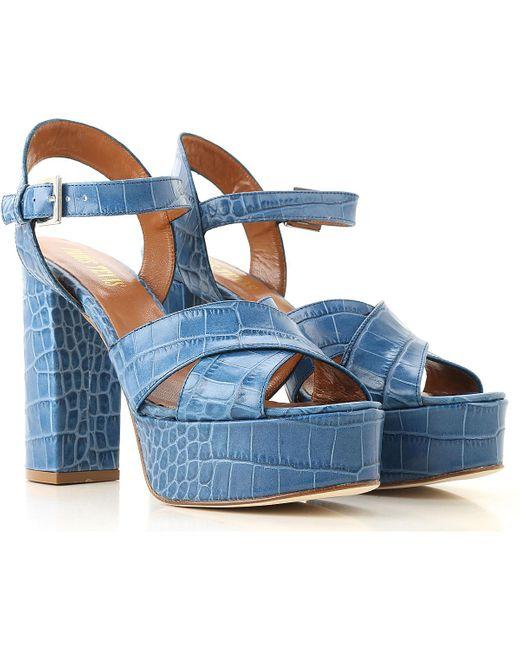 Paris Texas Sandalias de Mujer Baratos en Rebajas de color azul