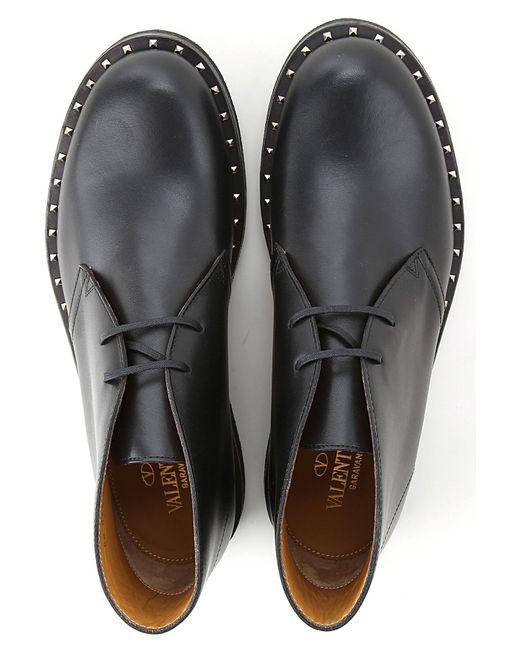 Valentino Garavani Desert Boots Chukka For Men In Black For Men Lyst