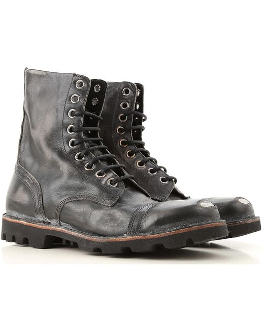 DIESEL Black Boots For Men for men