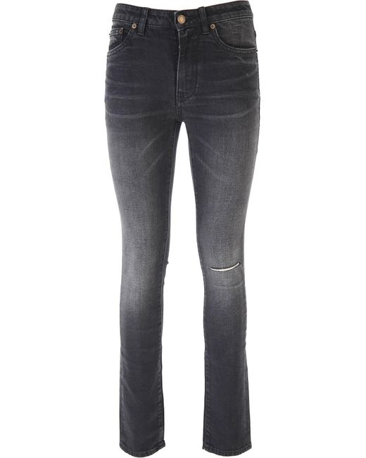 Denim Jeans In Outlet di Saint Laurent in Black