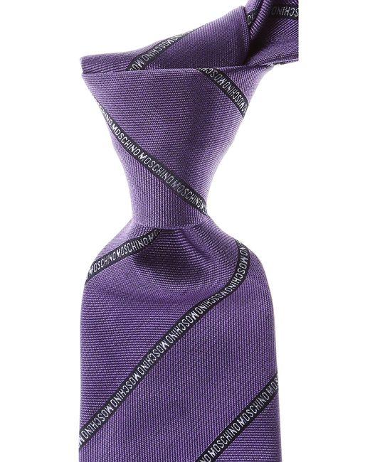 Corbatas Baratos en Rebajas Moschino de hombre de color Purple