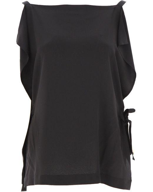 McQ Top de Mujer Baratos en Rebajas de color negro PPXLj