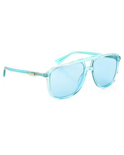 Gucci - Blue Sunglasses - Lyst