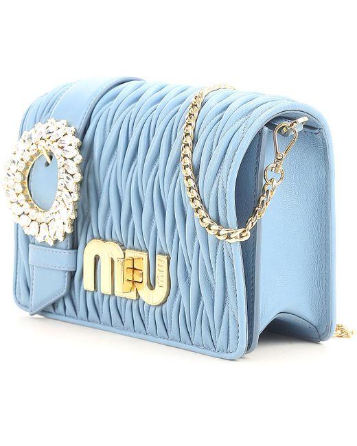 03d30cf78a72d ... Miu Miu - Blue Handbags - Lyst ...